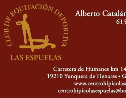Tarjetas Centro de Equitación Deportiva Las Espuelas