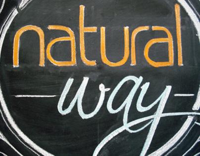 Lettering para Natural Way