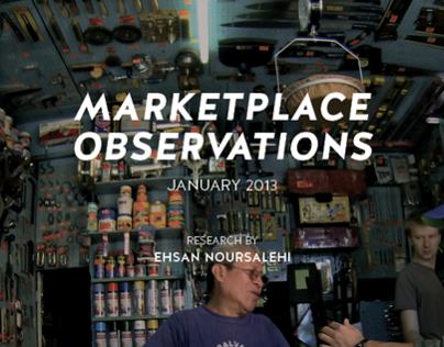 Marketplace Observations
