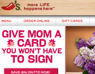 Chili's Mother's Day email