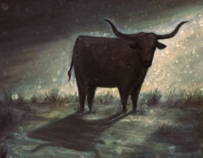 The Half Skinned Steer