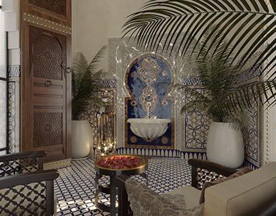 Moroccan house lobby