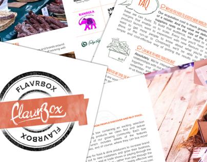 Flavrbox Booklet