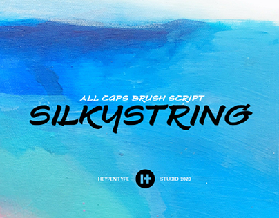Silkystring Brush Font