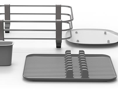 Aluminum Dish Rack