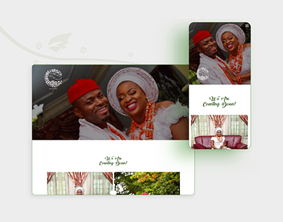 Website Design for NNforever Wedding Event