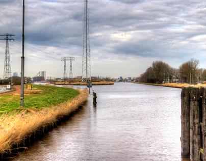 Winschoterdiep Groningen Nederland