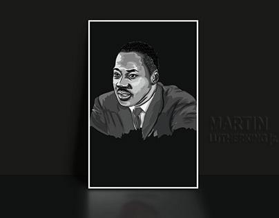 Martin Luther King jr. cartoon illustration art