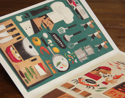 'Zizzi' Illustrated Menu Cover