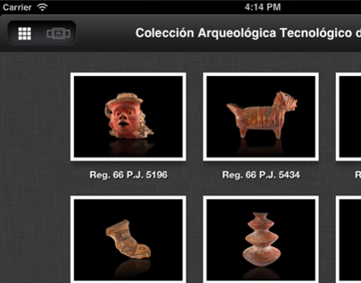 Archaeological Pieces Catalog App for iPad