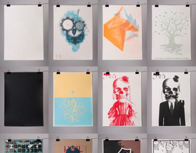 Atelier Schreinerei - Siebdruckkalender 2014