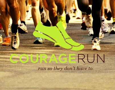 Courage Run Logo