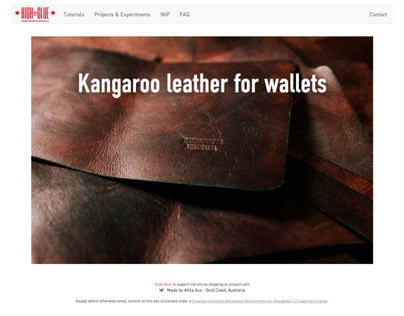 High On Glue Leatherwork Website