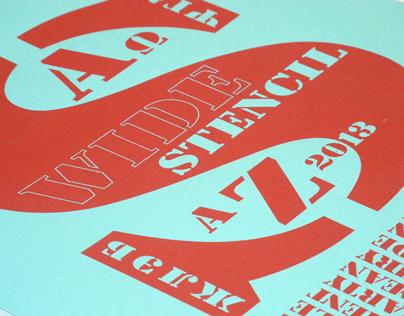 Wide Stencil typeface