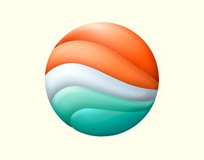 Bold gradient logo