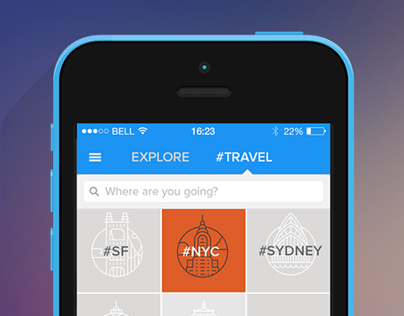 #travel - Instagram Explore redesign