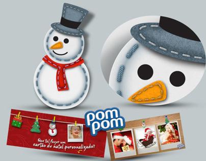 Ilustrações de Natal para hotsite Pom-Pom