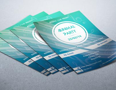 Flyer Minimal Party
