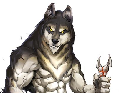 Night Wolf comic character design