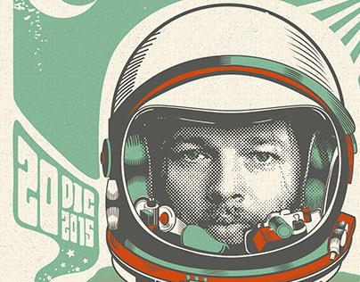 David Gilmour - Sudamerican Tour Poster 2015