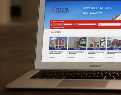 L'expert immobilier - New website