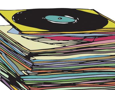 MUSIC RECORD ILLUSTRATION