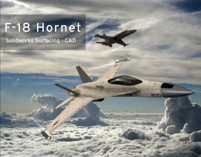 CAD of F-18 Hornet