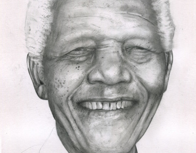 Drawing of Nelson Mandela