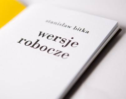 """książka """"wersje robocze"""", ręczny druk//handprinted book"""