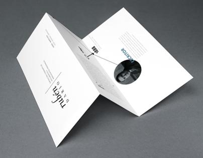 Brochure, Rúben Darío exposición itinerante