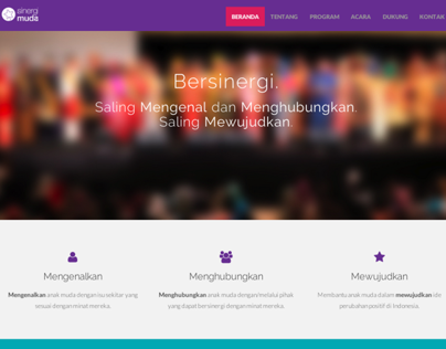 Sinergi Muda website (2014)