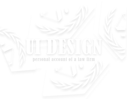 UI DESIGN OF THE SITE OF THE LEGAL COMPANY