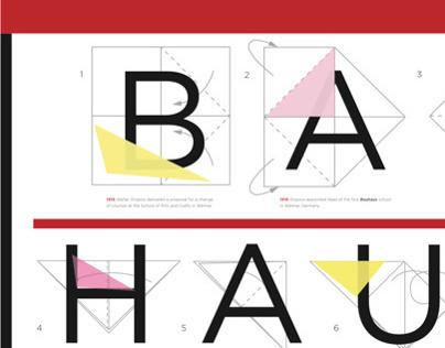 Bauhaus + Origami Timeline