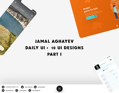 #DailyUI 001 - 010 designs
