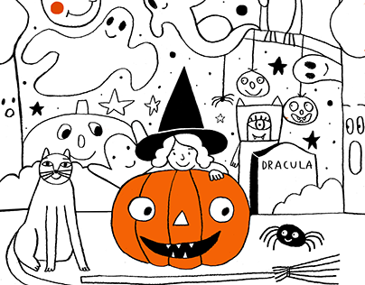 Colouring Halloween