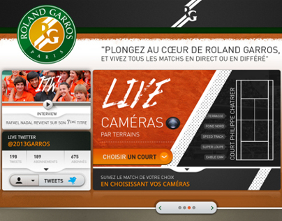 Roland Garros | Live streaming multicam app.
