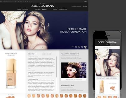Dolce&Gabbana Beauty Website