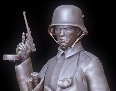 Trench Raider bust
