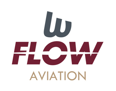FLOW Aviation - branding, logo & stationary plan