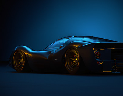 Ferrari 330P Studio Lighting CGI