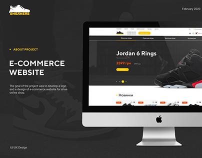 E-Commerce Web Site for shoe shop