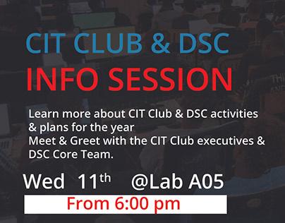 CIT Club & DSC MMU Info Session [Event Poster!]