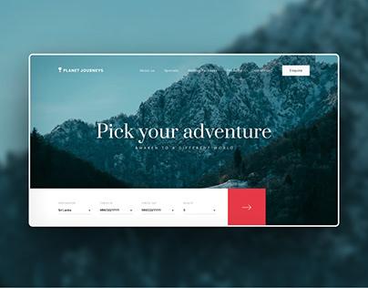 Planet Journeys – Travel Website Design