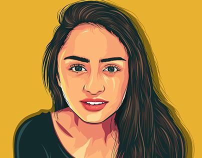 Pragathi Guruprasad Portrait Illustration