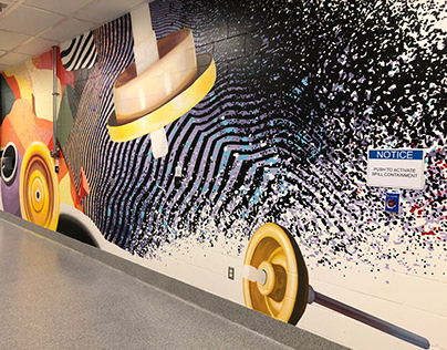 Research and Development Lab Murals