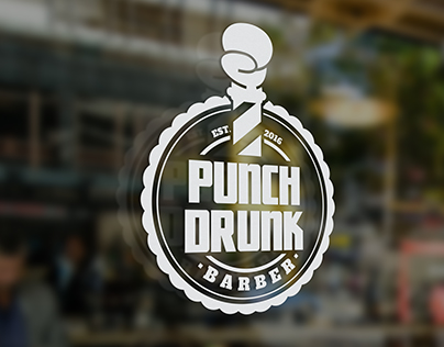 Punch Drunk Barber Branding Package