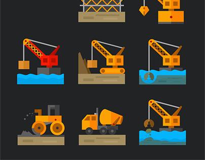 Flat Website Icons.