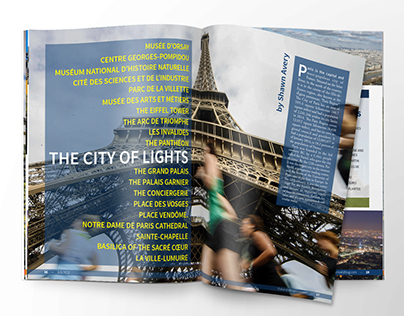 Running Travel Magazine Concept