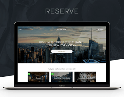 Restaurant Reservation Booking Platform | UX, UI