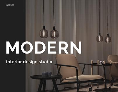 Interior design studio website concept